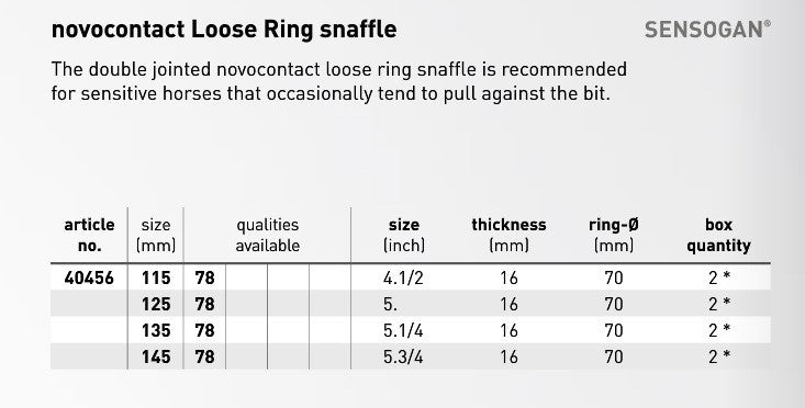 Novo Contact Loose Ring Snaffle - Double Join