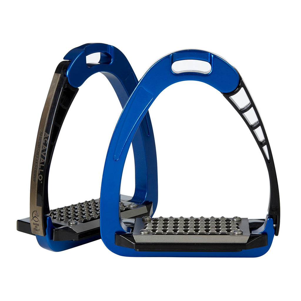 Acavallo - AluPro Safety Stirrups - Blue