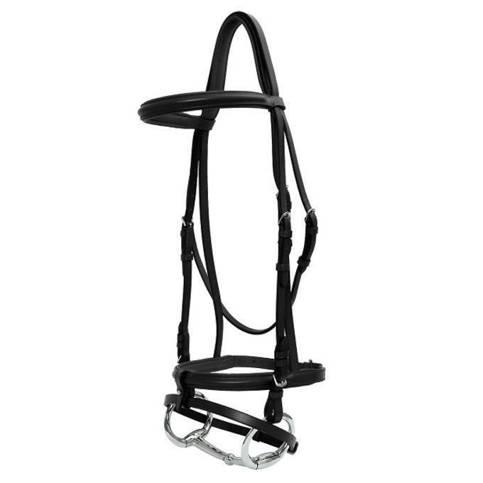 Shaped Head Padded Bridle - Black