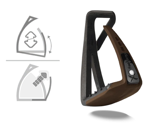 Freejump - Soft'Up Lite Stirrups - Choco