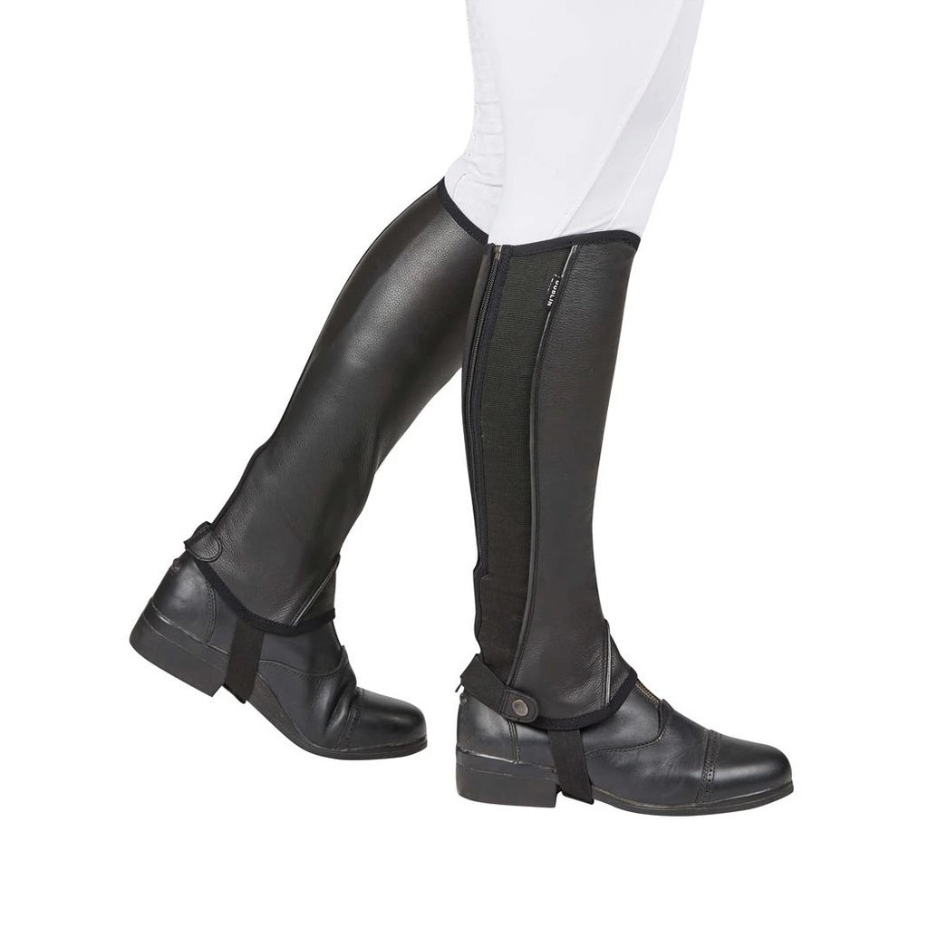 Dublin - Stretch Fit Leather Children's Half Chaps