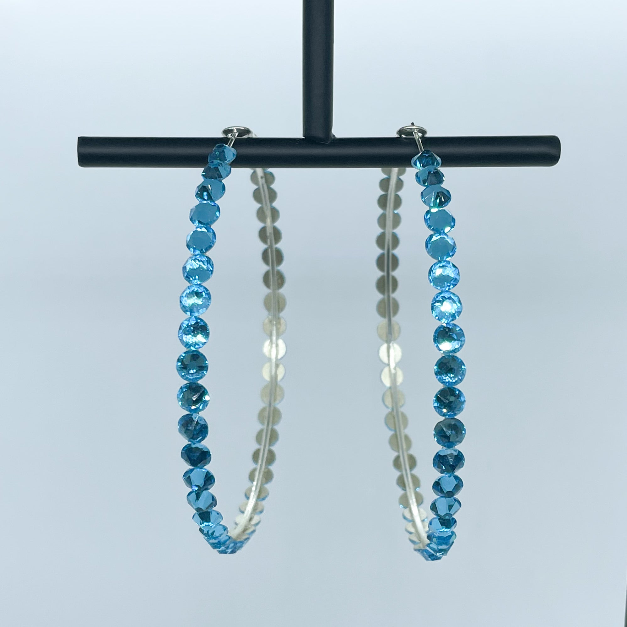 Katherine hoop earrings (Blue)