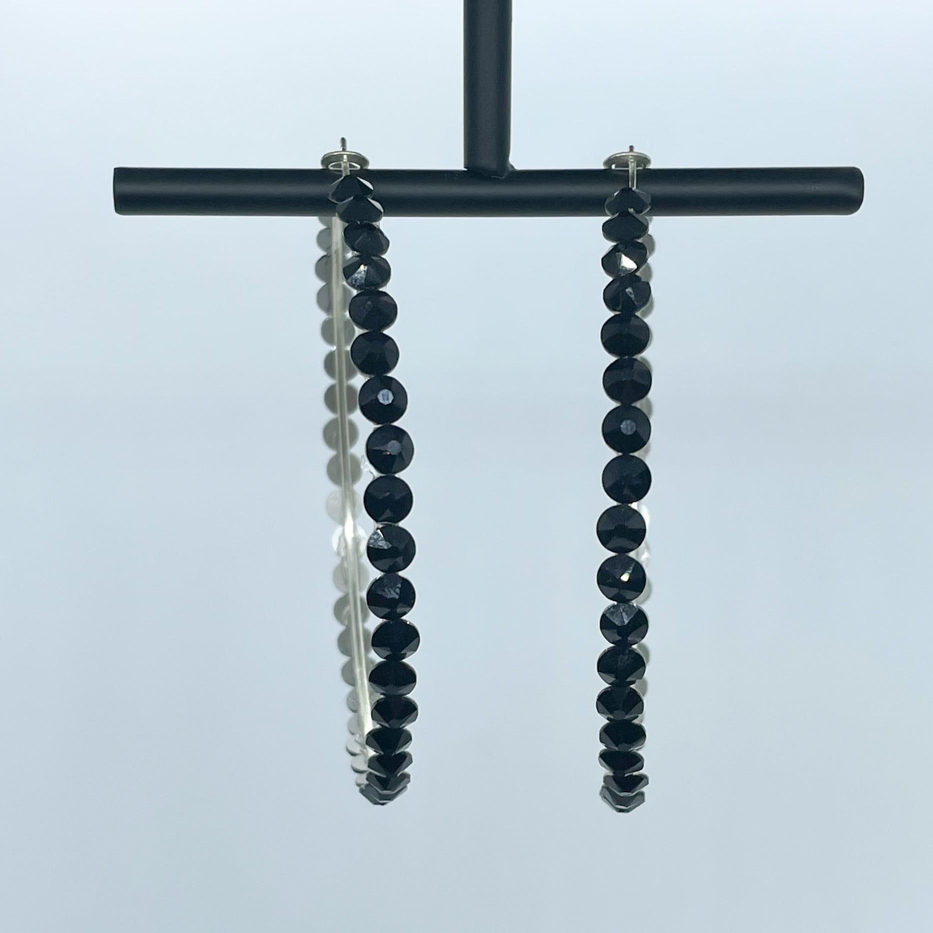 Katherine hoop earrings (Black)