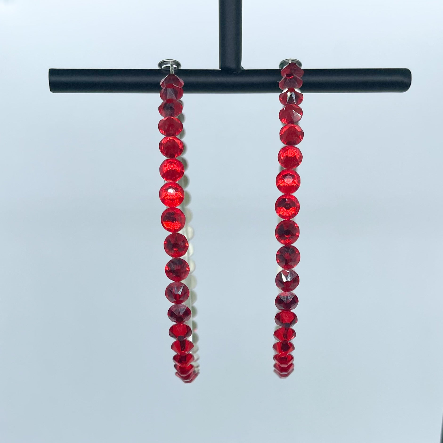 Katherine hoop earrings (Red)