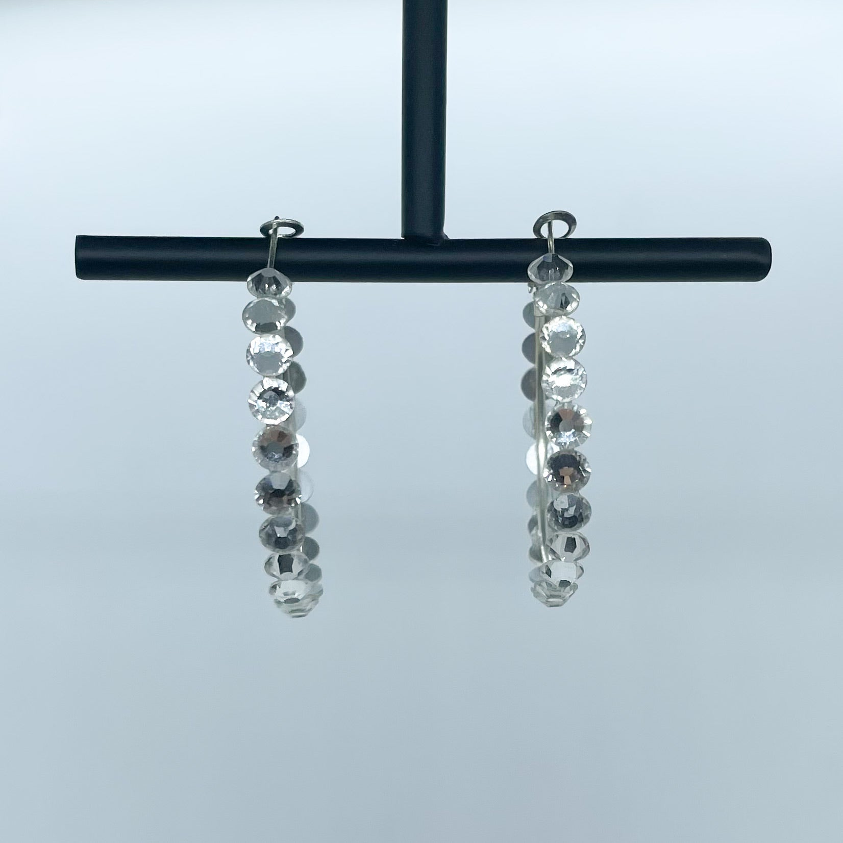 Elena hoop earrings (Crystal)