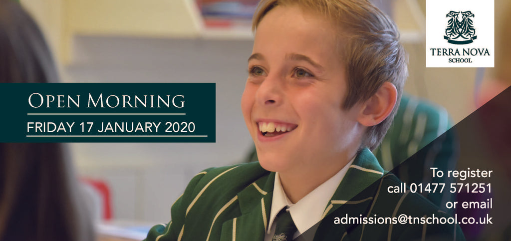 Terra Nova's next Open Morning - to be held on 21 February 2020 @ 9.30am