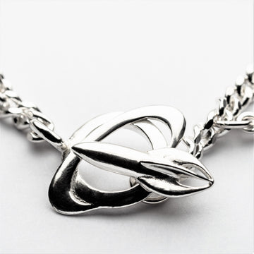 JRSP 01CN	Classic Rocket Planet Clasp Necklace.
