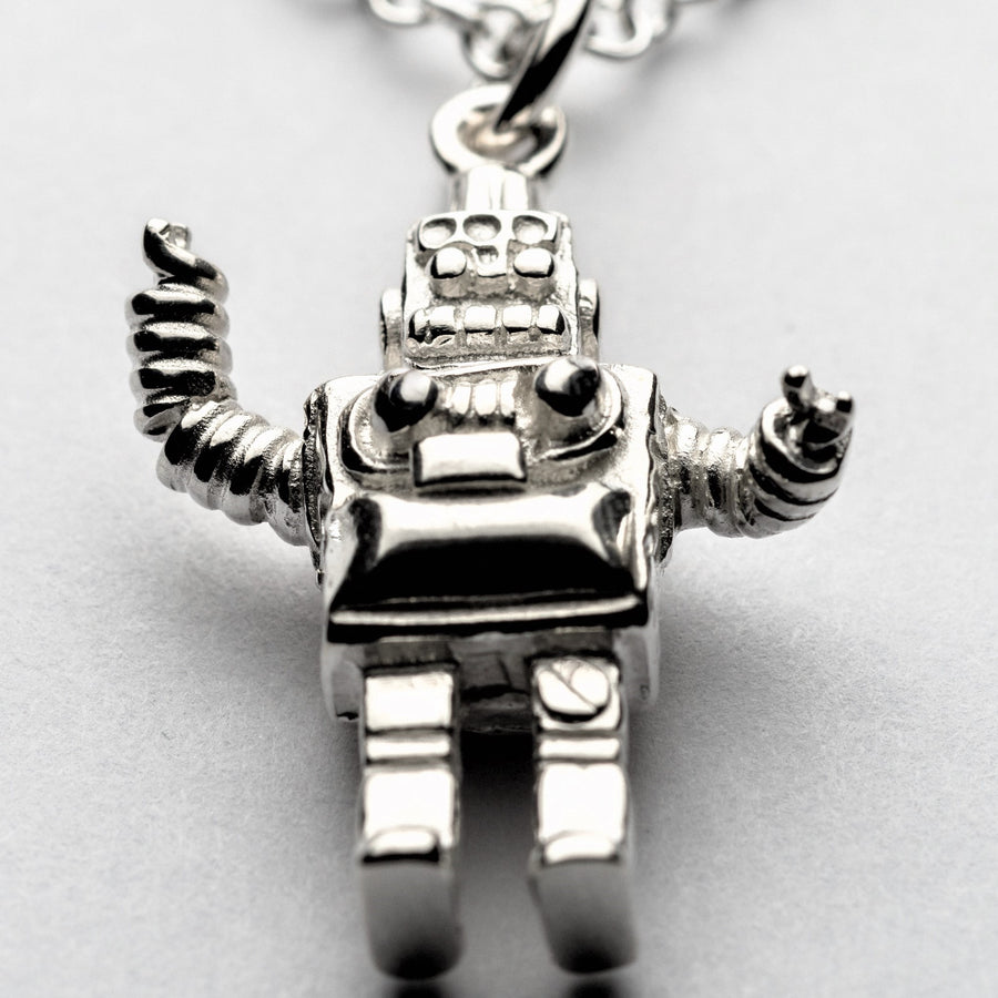 JRSP 03N Retro Robot Necklace