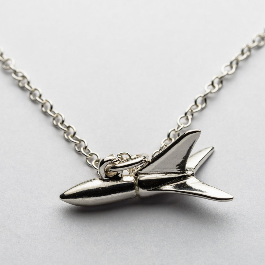 JRSP 05N Rocket Ship Necklace