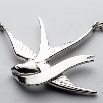 JRSW 02 Classic Large Swallow & Scroll Necklace