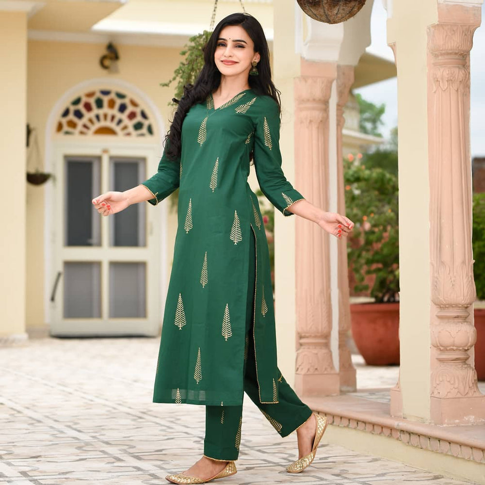 Ankita's Green Straight Kurta Set