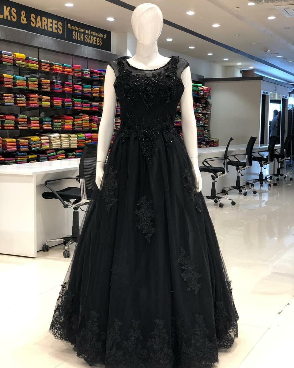 The Ultimate Black Designer Gown with CANCAN
