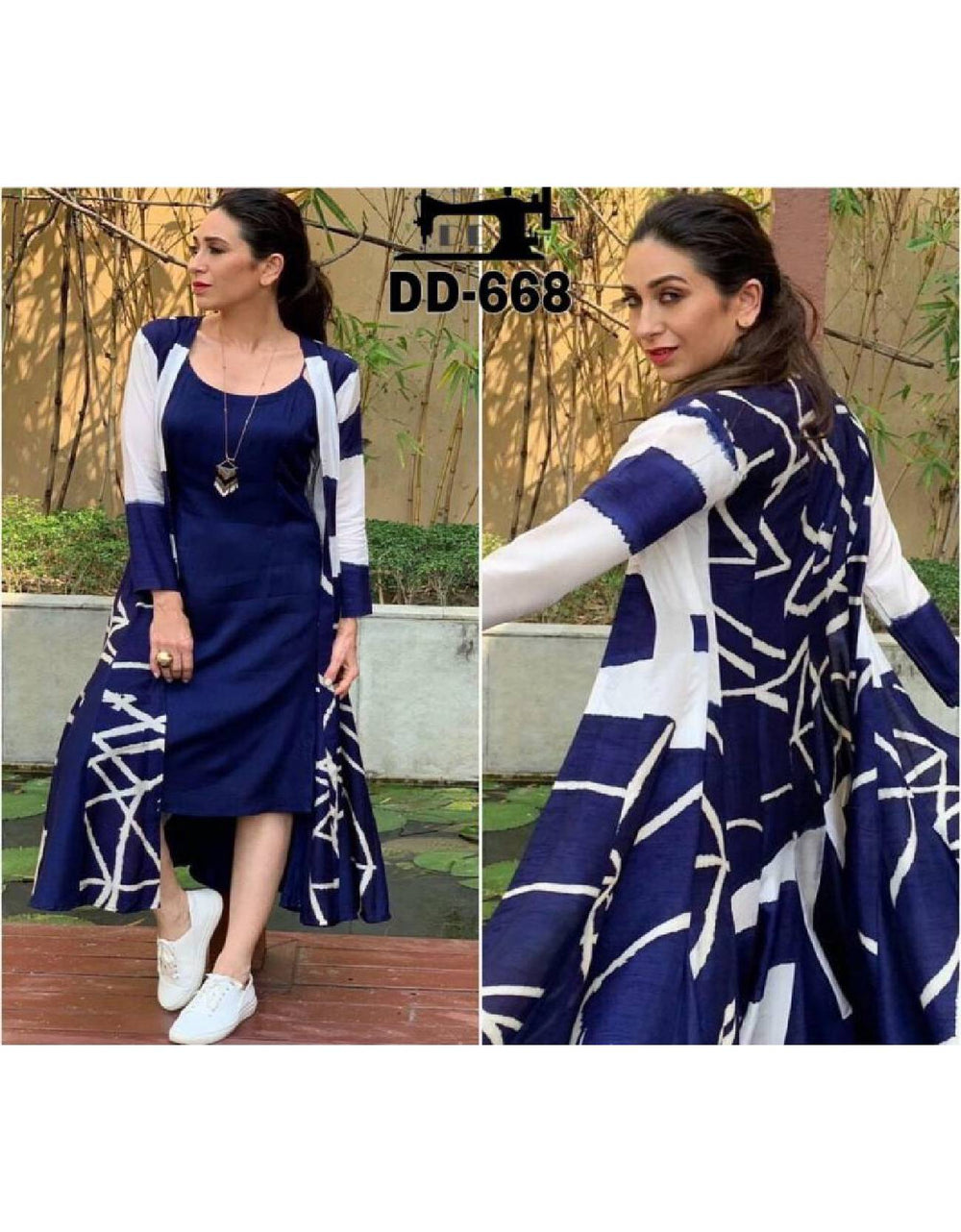 Karishma Kapoor stylish kurti jacket set
