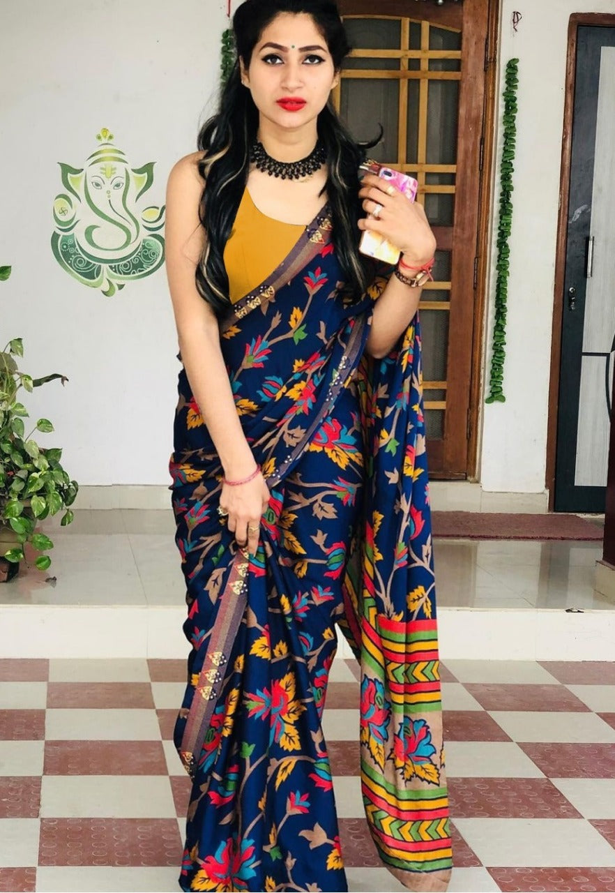 Heavy Softy Silk Digital Print Saree