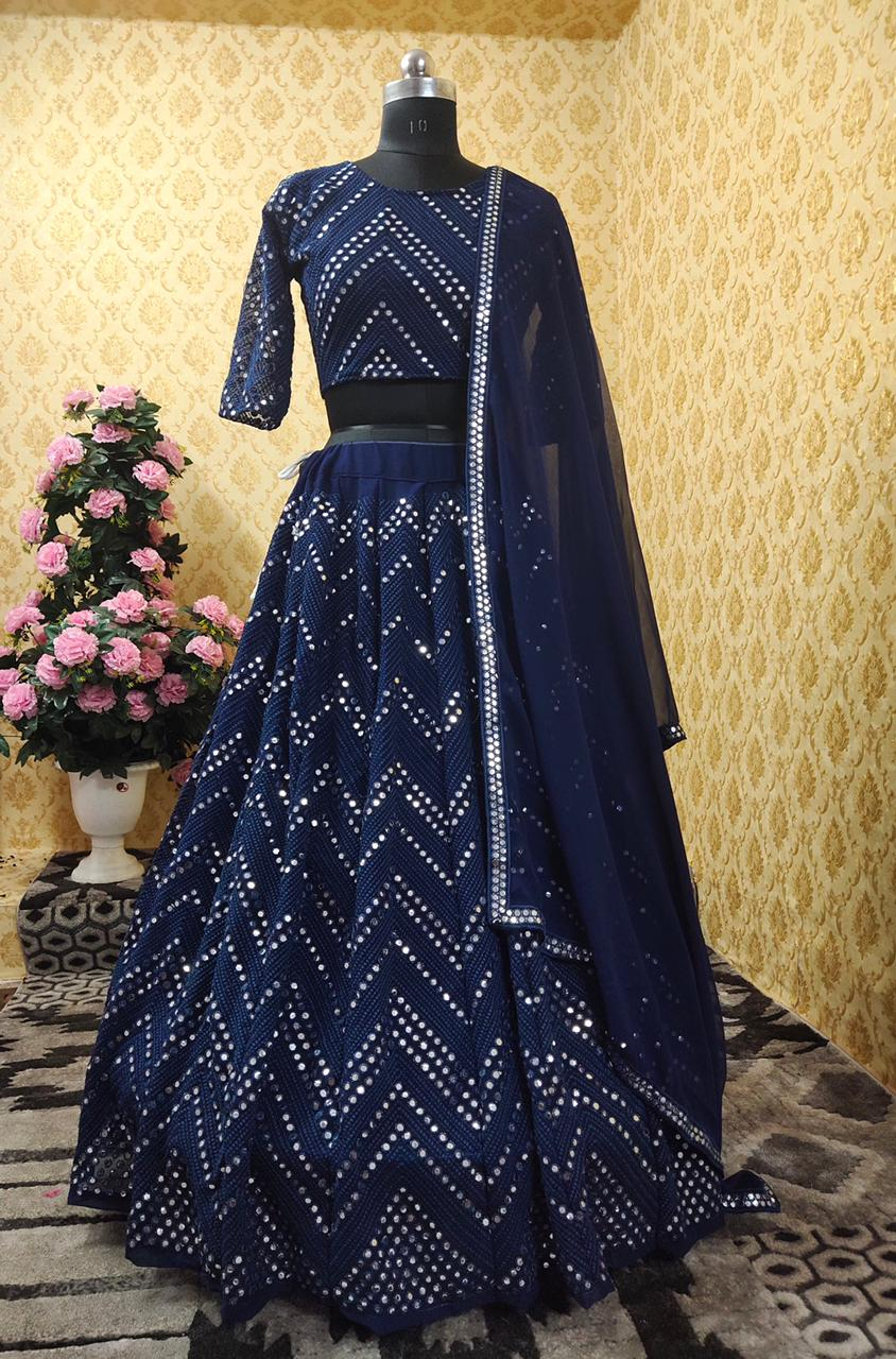 New Trending Designer Lehenga With Heavy Foil Paper Embroidery Work