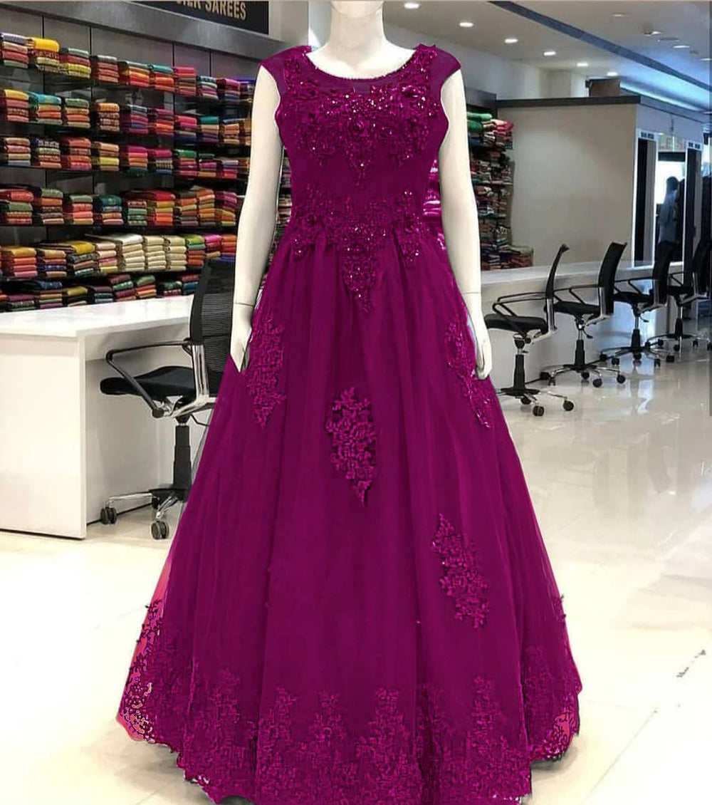 The Ultimate Purple Designer Gown with CANCAN