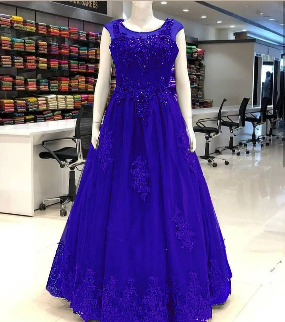 The Ultimate Blue Designer Gown with CANCAN