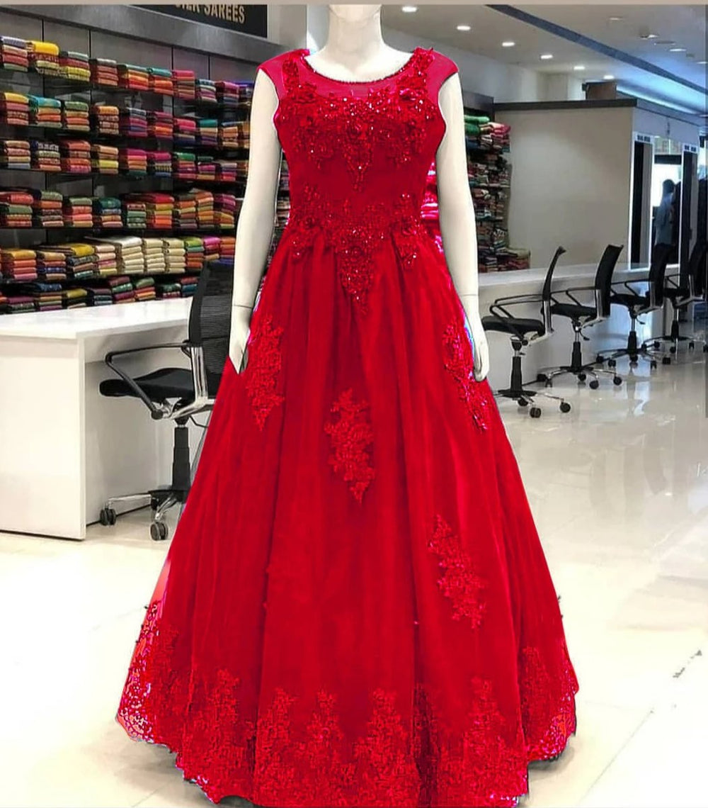 The Ultimate Red Designer Gown with CANCAN