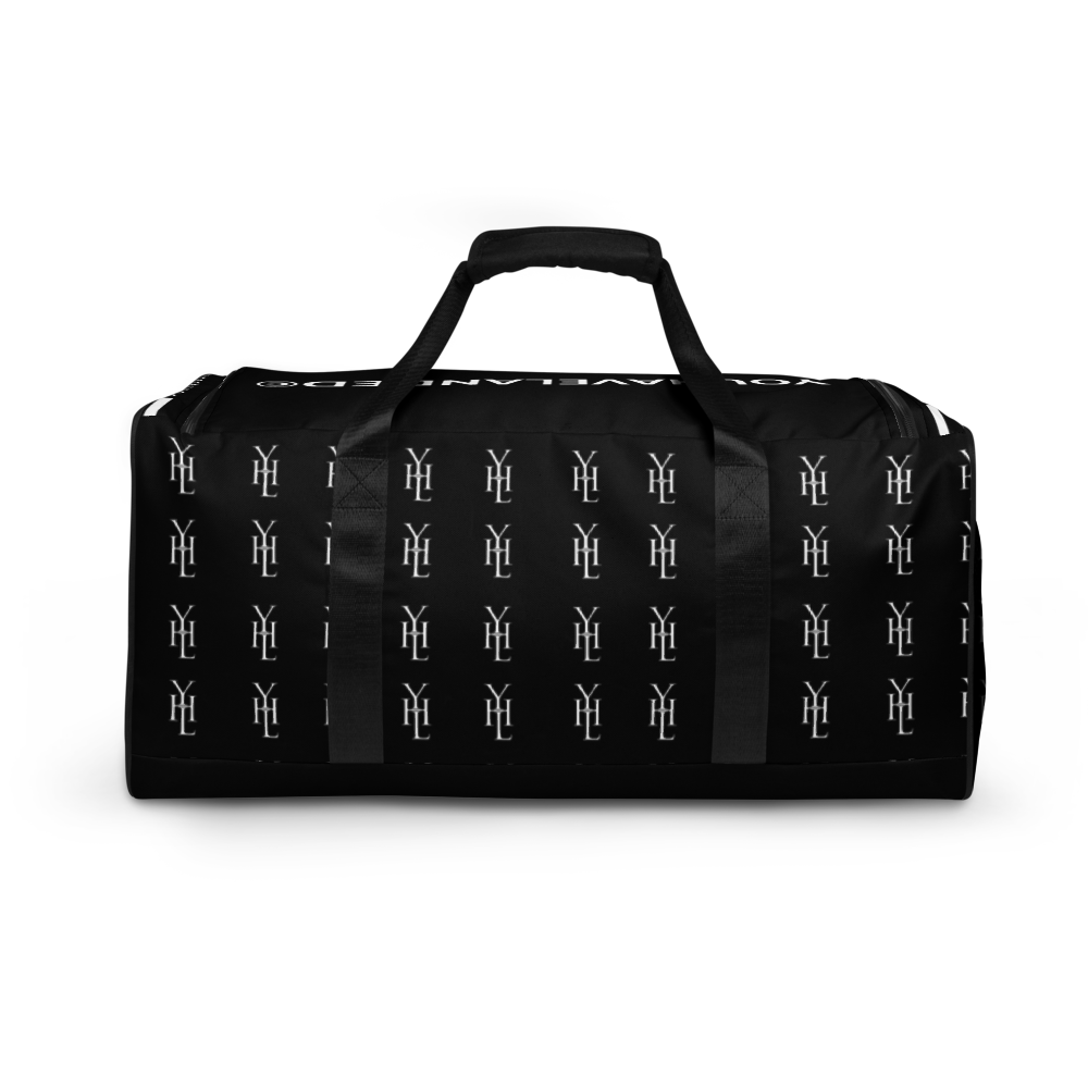Black YHL Print Duffle Bag