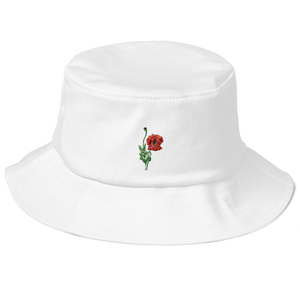 """Red Poppy"" Bucket Hat - YOUHAVELANDED"