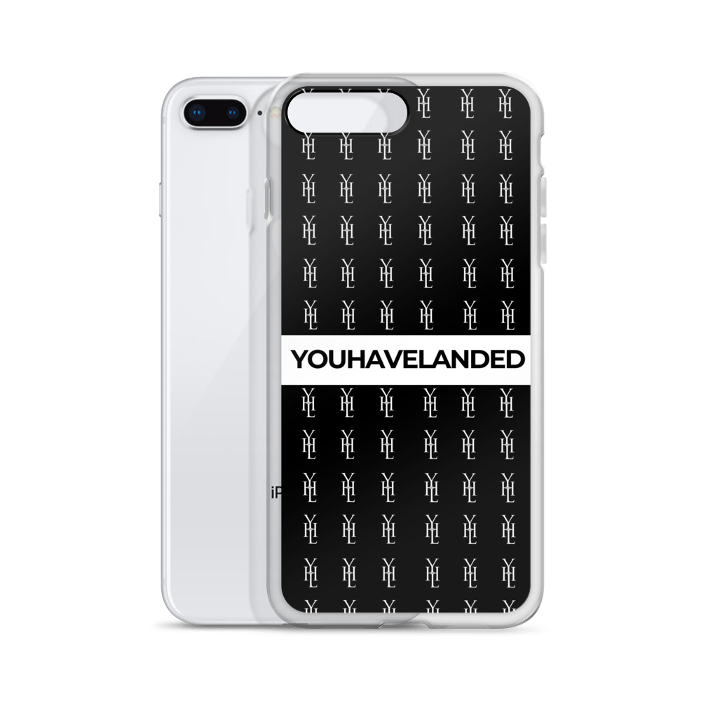 Black All-Over Print iPhone Case