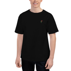 "Embroidered ""Red Poppy"" Champion T-Shirt - YOUHAVELANDED"