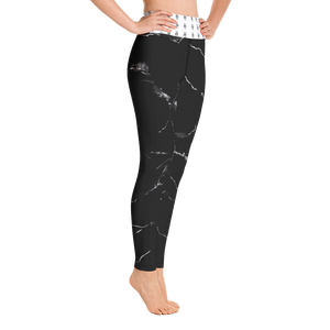 Black Marble Yoga Leggings - YOUHAVELANDED