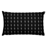 Black All-Over Print Throw Pillow - YOUHAVELANDED