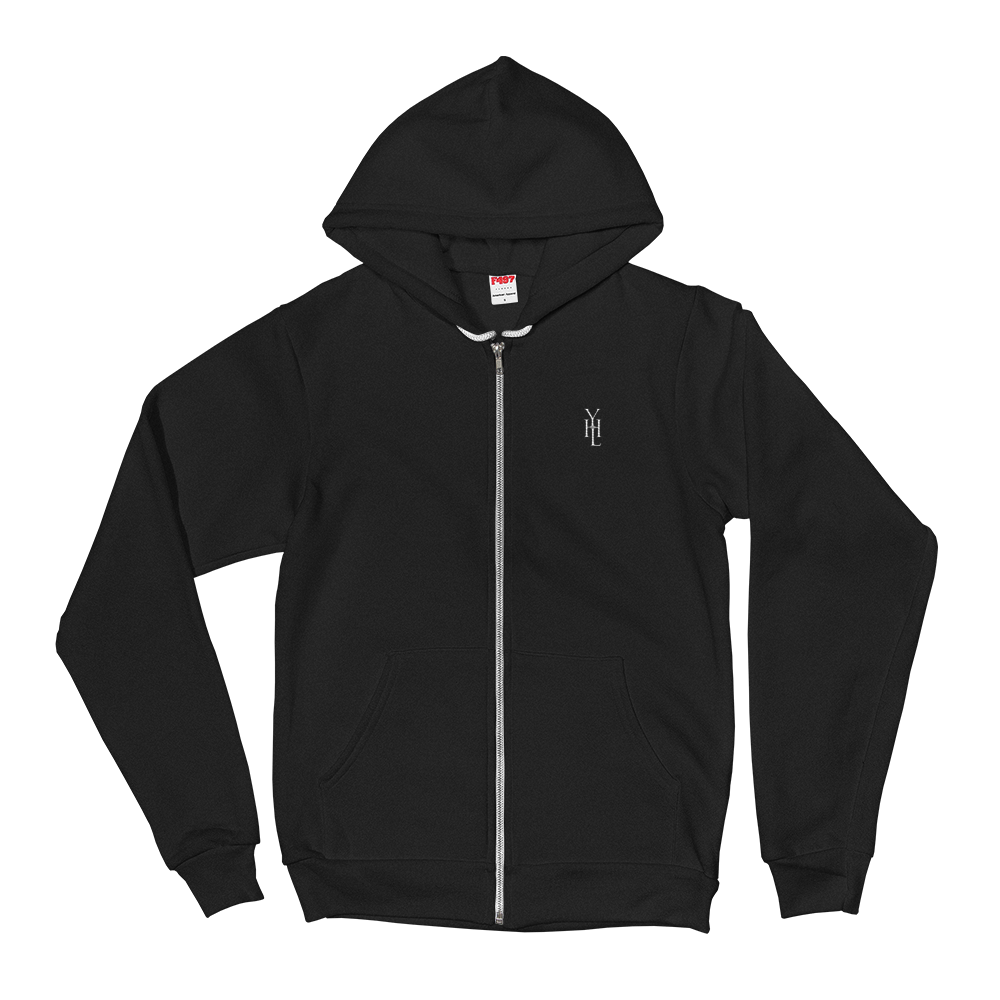 Embroidered Logo Zip-Up Hoodie - YOUHAVELANDED
