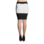 B&W YHL Logo Print Pencil Skirt