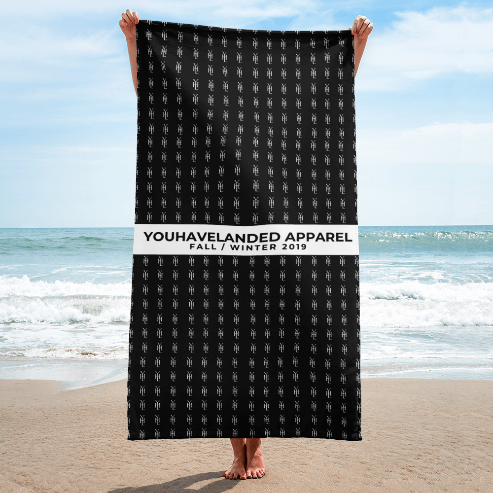 Black All-Over Print Towel - YOUHAVELANDED