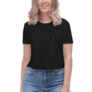 Embroidered Logo Crop Tee - YOUHAVELANDED