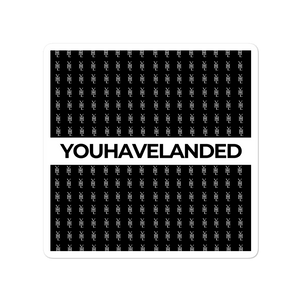Black All-Over Print Stickers - YOUHAVELANDED