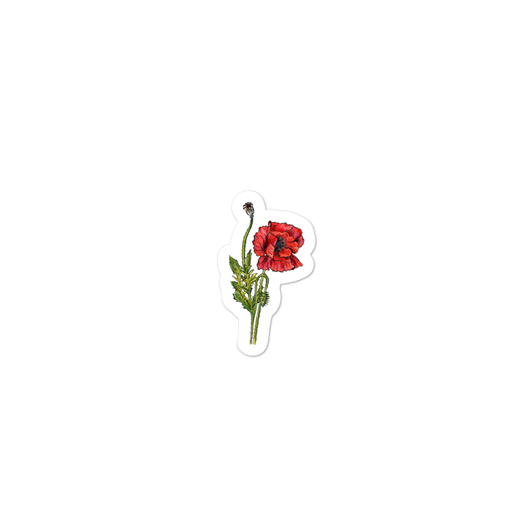 """Red Poppy"" Stickers"