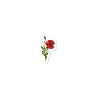 """Red Poppy"" Stickers - YOUHAVELANDED"