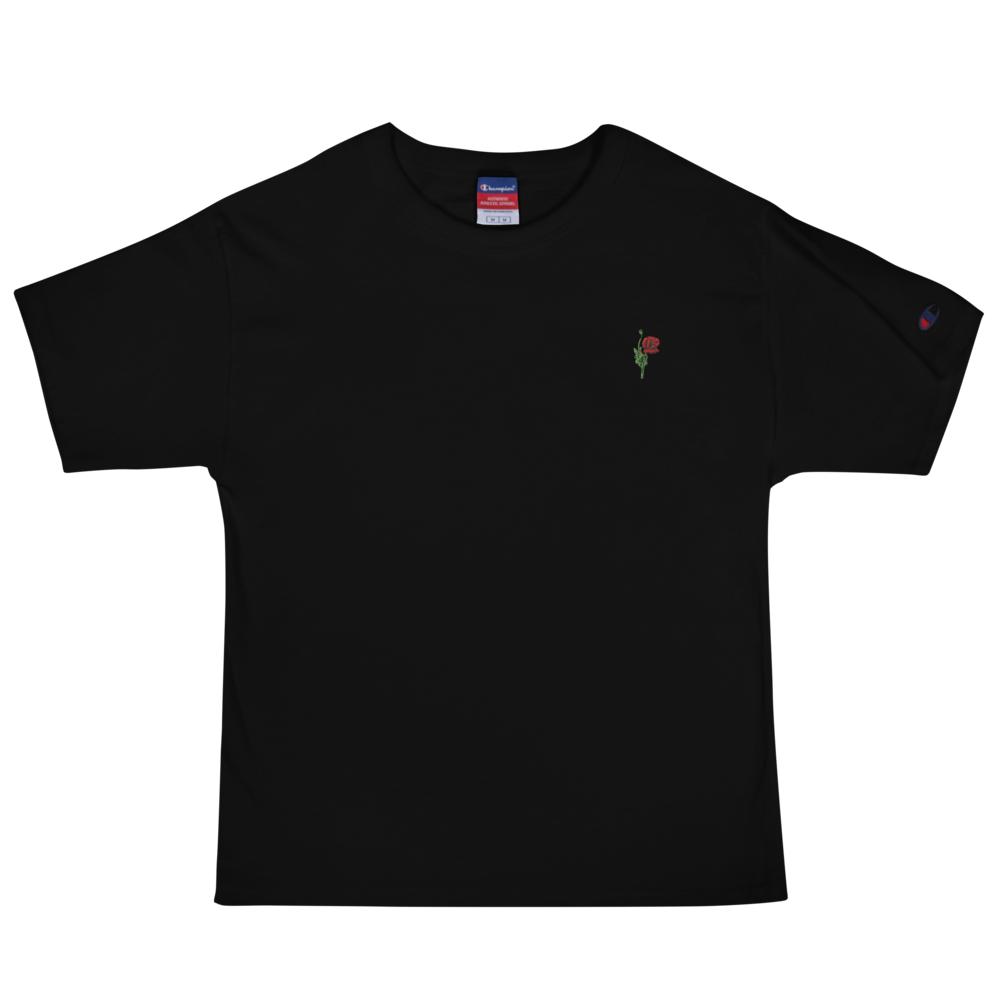 "Embroidered ""Red Poppy"" Champion T-Shirt"