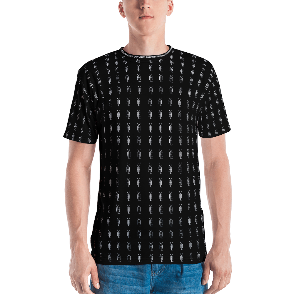 Black All-Over Print T