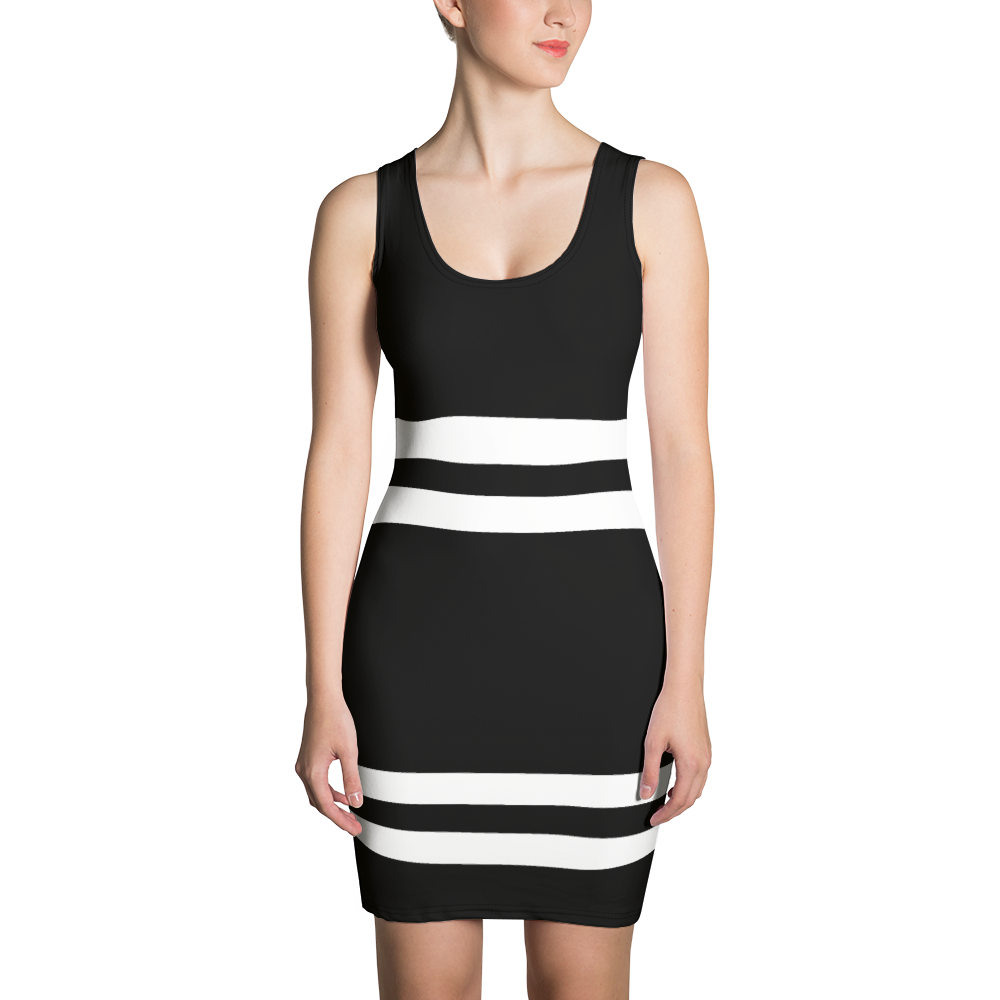 B & W Striped Dress