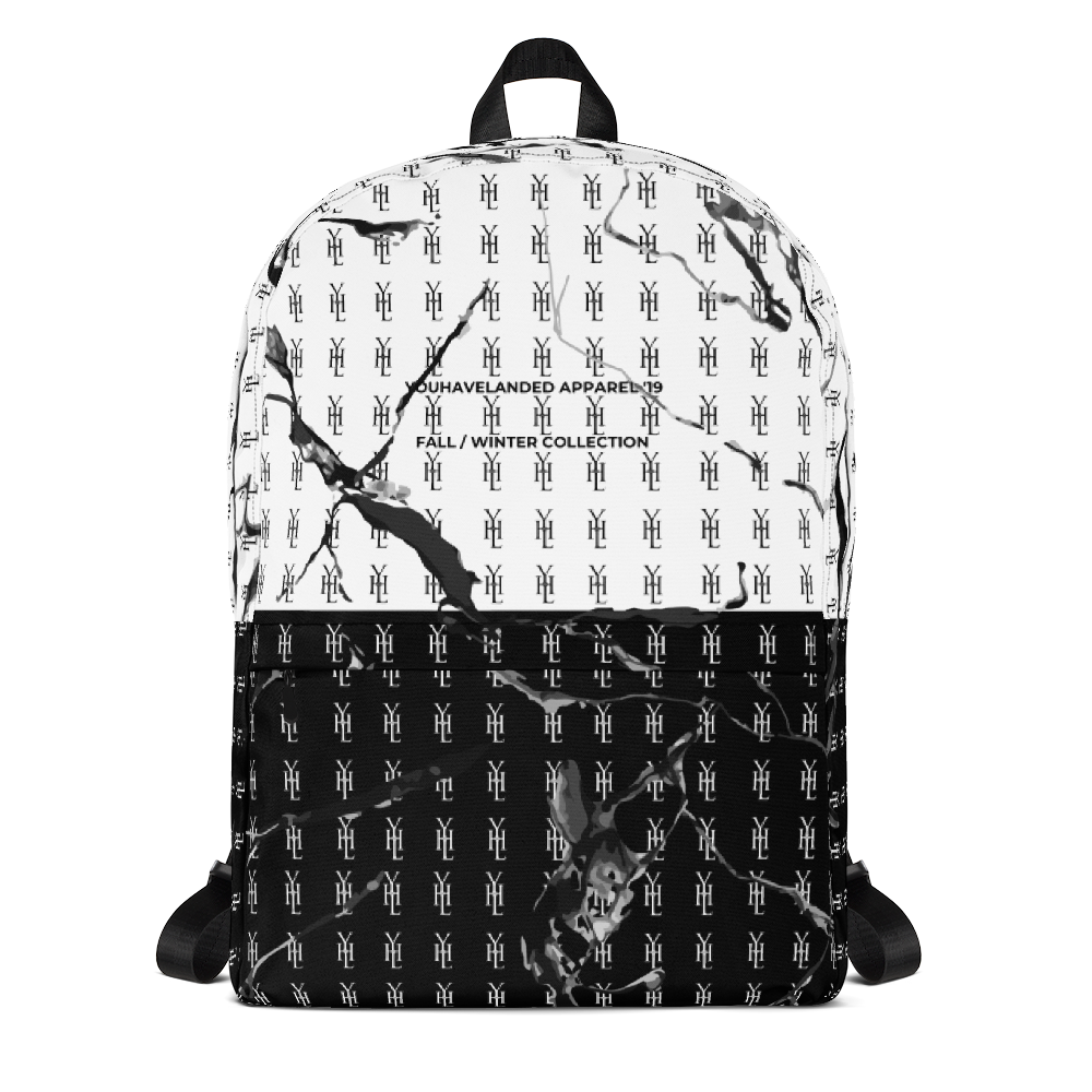 Marbled B&W Backpack - YOUHAVELANDED