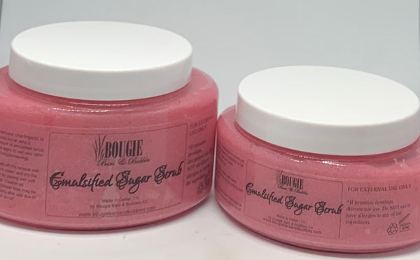 Pink Rose Emulsified Sugar Scrub - bougie-bars-bubbles-co