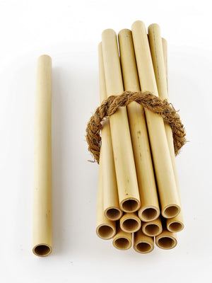 Coco Candle Co - bamboo drinking straws in bundle
