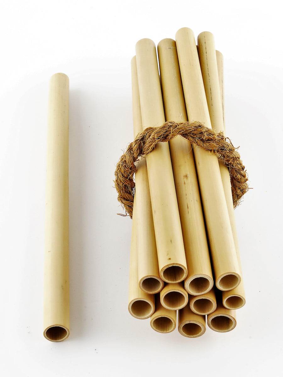 Coco Candle Co - bamboo drinking straws in glass jar