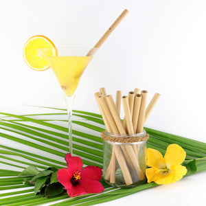 Coco Candle Co - bamboo drinking straws in cocktail setting
