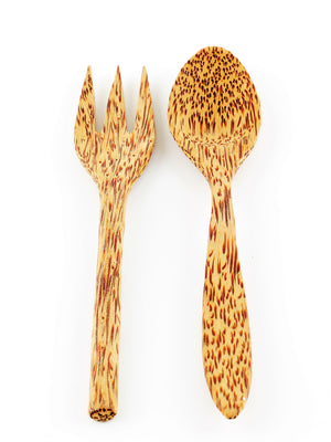 Coco Candle Co - coconut wood cutlery pack (fork and spoon)