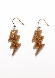 Zap Earrings in Gold