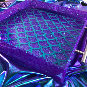 Violet Mermaid Tray