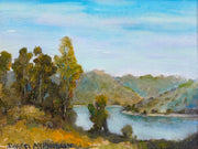 Oil painting of Lake Hodges
