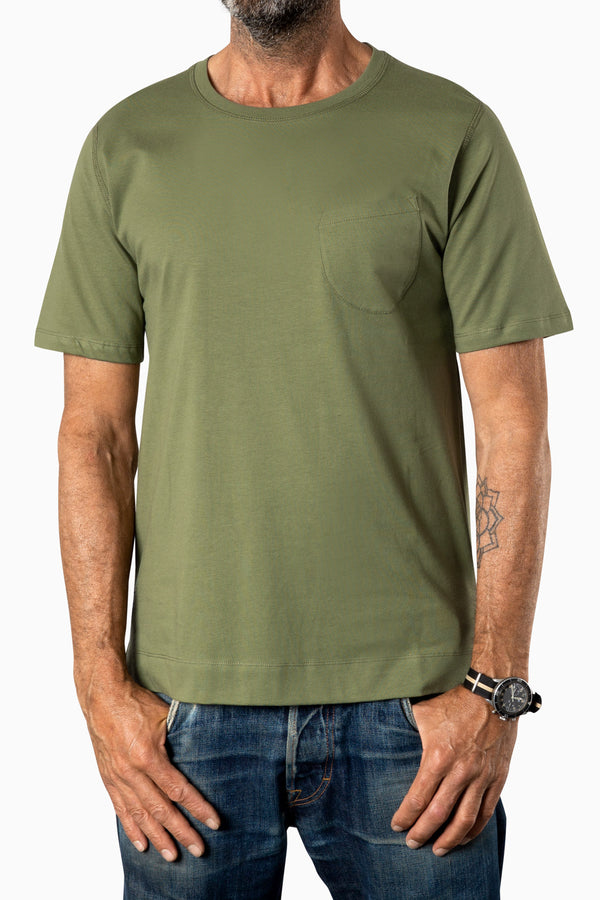 Curved Pocket Tee Terrarium Moss