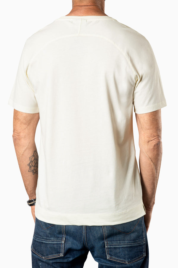 Curved Pocket Tee Sweet Corn