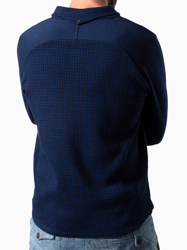 Polo Curved Jaquard Indigo Dyed